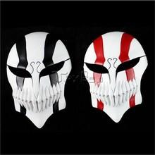 HOT Anime Bleach Kurosaki Ichigo Half Face Resin Mask Cool Party Halloween Cosplay----Black or Red