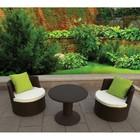 2015 New style garden round wicker rattan with 2 seats