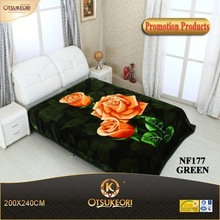 2015 One and two ply Korean style wholesale best summer and winter blanket all over the world