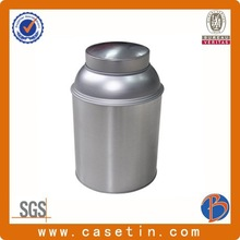 round and silver metal safe cans