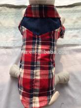 100% Cotton Spring/Summer plaid dog shirt dog clothes