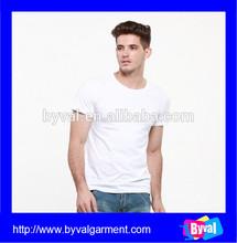 Wholesale Plain White 100% Cotton T-shirts for Men