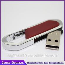 wholesale!!! Leather & Key Ring USB 2.0 Memory Stick Flash Pen Drive 8GB