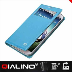 QIALINO Hot Quality With Custom Printed Logo Imported Leather Waterproof Phone Case For Samsung For Galaxy S4