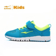 ERKE 2015 New kid running shoes available kid sneaker for boy and girl kid sports velcro closure 31-37 7-14yeas Wholesale/OEM