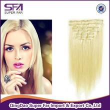 100 remy human hair 6a Malaysian hair clip in hair extensions