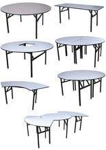 Hot sale hotel folding banquet tables various size and shapes