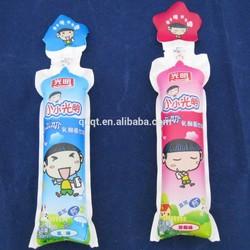 Qingdao strawberry flavoured milk plastic bags
