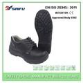 negro de acero sf718 suela anti deslizamiento zapatos de seguridad activa