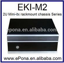 Updated 2U desktop mini-itx Compact Server case, Rackmount Chassis, industrial PC case EKI-M2