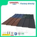 Clássico Wanael decorativa telhado de metal telha / anti - uv pedra chips revestido folha de telhado / telhado para estacionamento