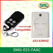 Smg-015-faac 4 canales Faac XT4 433 RC de control remoto - rolling code, 433,92 MHz