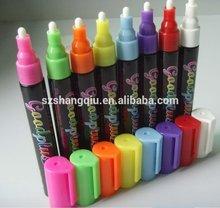 OEM fluorescent Whiteboard marker 5mm, 8 pack, REVERSIBLE TIP liquid chalk marker