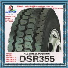 double star 11R22.5 11R24.5 255/70R22.5 285/75R24.5 295/75R22.5 truck tire DSR355 all position
