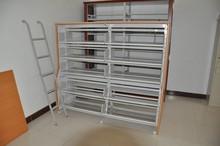 heavy duty stability single side steel bookshelf