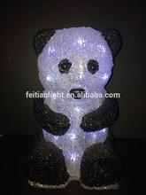 panda Outdoor attractive 3D acrylic led light holiday acrylic led holiday light CE ROHS GS
