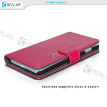 New design wallet for iphone 6+ leather case