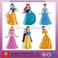 PVC OEM Plastic Princess Figurines, Custom Plastic Lovely Toy, Princess Figurines