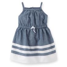 Venta al por mayor niño de encargo del vestido de / 100% de algodón de cambray y popelín venta al por mayor de las muchachas del niño