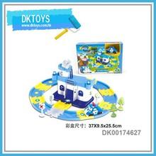 Kids Love Police Department Play Toy Set Railway Cartoon Car