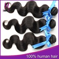 "Ali expressar indiano cor natural do cabelo humano 3pcs/lot onda do corpo cabelo virgem mixed comprimento 8""-28"" extensão do cabelo indiano"