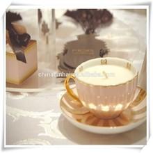 hot design branded various shape scented candle in ceramic jar
