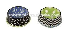 Colorful ceramic pet dog bowl for promotion gift