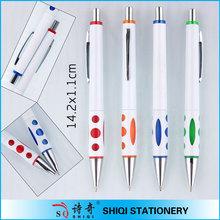 popular selling white barrel colorful half metal pen