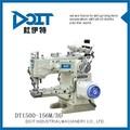 Dt1500-156m/dd cilindro cama interlock máquina de costura elétrica