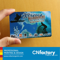 Glossy Finishing Plastic PVC Business Card With Silver foil Hot-stamping