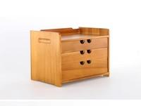 Desktop storage wooden box with draw