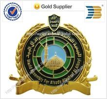 2015 high quality gold metal badge