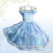 2015 nueva cenicienta vestidos de las muchachas azul del partido de la princesa vestido specil vestidos para ocasiones
