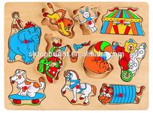 wooden 3D puzzle toy