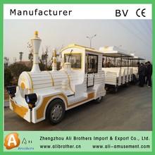 Wonderful outdoor tourist diesel trackless train,amusement road train for sale