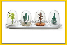 Condiment bottle with tree shape set for 2012 new style