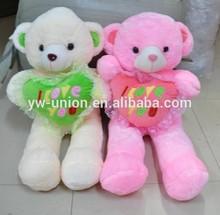 Shiny fur teddy bear Toy animals stuffed plush ,sock plush stuffed animal toy