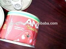 ISO9001 canned packing tomato paste/peeled tomato/tomato puree