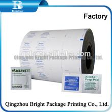 Aluminium Foil paper packing BZK antiseptic swab, iodine swab, aluminum foil packing paper packing V aseline gauze