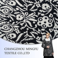 2015 new style overcoat fancy or jacquard wool fabric for women