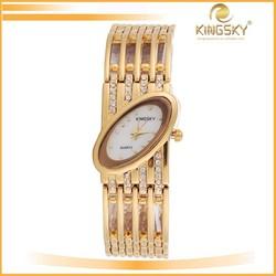 2015 kingsky k8006# vintage high copy best women wrist watch brand with diamond band