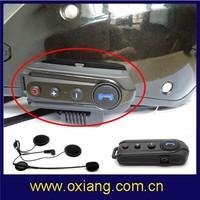 wireless full duplex motorcycle helmet bluetooth headset/1000m intercom