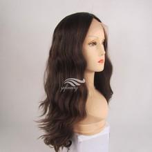 Streaked Color Silk Top German lace wigs
