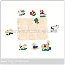 Popular,simplex toys wooden puzzles