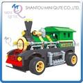 Mini Qute kawaii DIY electrónico RC de control remoto tren figura de acción de vehículo de plástico del bloque hueco juguetes educativos NO.20217