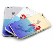 Ultra slim thin TPU silicon case for apple iphone 6 plus 5s 4s 5c pc hard phone case sea fish