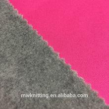 good color 100% Polyester Polar Fleece TPU Bonded Fabric for warm cloth