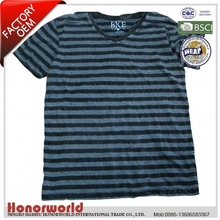 20 years professional supplier BSCI approved 100% cotton bella rib t-shirts with binding