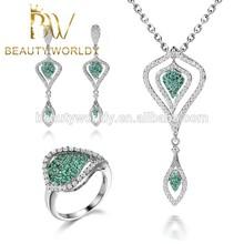 dubai gold jewelry set / wedding jewellery designs necklace earrings set