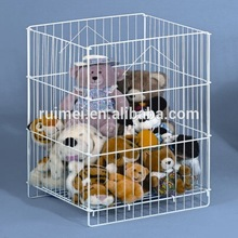 Metal Wire Square Toys Shelf Bins